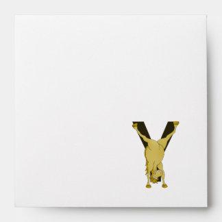 Monogram Y Agile Pony Customised Envelopes