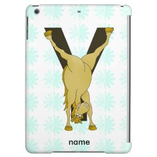 Monogram Y Agile Pony Customised iPad Air Cover