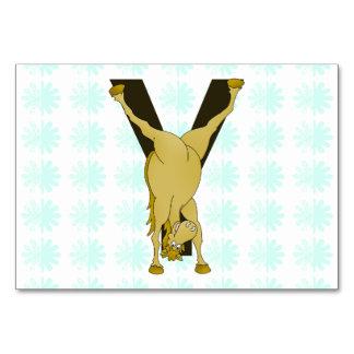 Monogram Y Agile Pony Customised Table Card