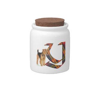 Monogram Y Candy Jar