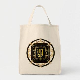 Monogram Y Customize Edit Change Background Color Tote Bag