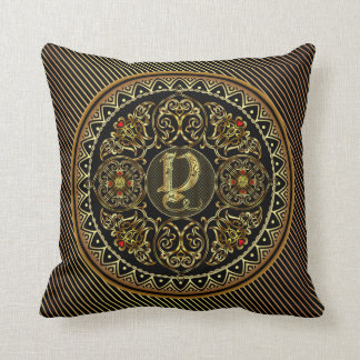 Monogram Y Designs front and back are different Throw Pillow