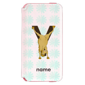Monogram Y Funny Pony Customized iPhone 6/6s Wallet Case