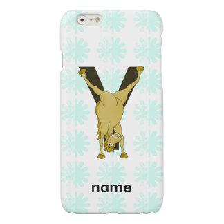 Monogram Y Funny Pony Customized Glossy iPhone 6 Case