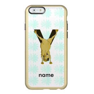 Monogram Y Funny Pony Customized Incipio Feather® Shine iPhone 6 Case