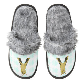 Monogram Y Funny Pony Personalised Pair Of Fuzzy Slippers