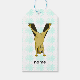 Monogram Y Funny Pony Personalised Pack Of Gift Tags