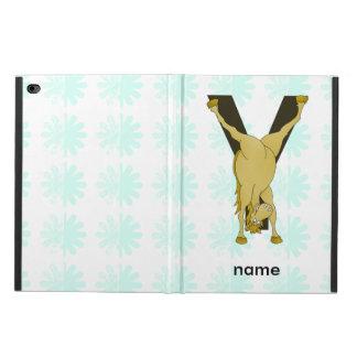 Monogram Y Funny Pony Personalised Powis iPad Air 2 Case