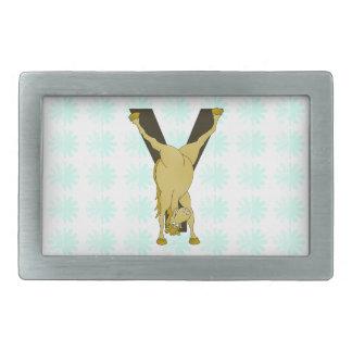 Monogram Y Funny Pony Personalized Belt Buckle