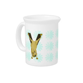Monogram Y Funny Pony Personalized Drink Pitcher