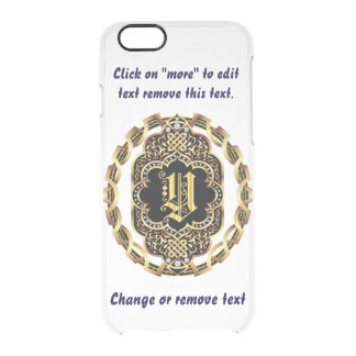 Monogram Y iPhone 5/5s & 6-6 plus  Deflector Case Uncommon Clearly™ Deflector iPhone 6 Case