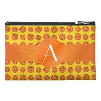 Monogram yellow basketballs travel accessory bags