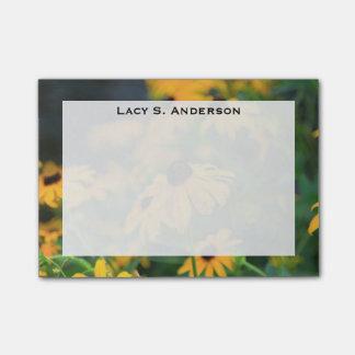 Monogram Yellow Black Eyed Susan Flowers Post-it® Notes