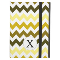 Monogram Yellow Chevron ZigZag Pattern iPad Air Cases