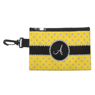 Monogram yellow diamonds polka dots accessories bag