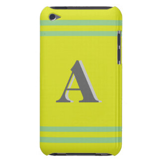 Monogram Yellow/Green Striped iPod Touch Case
