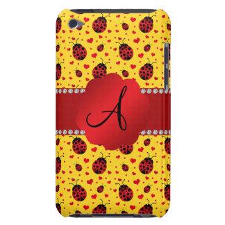 Monogram yellow ladybug hearts barely there iPod cover