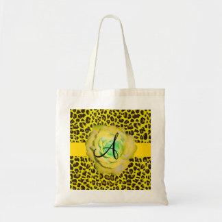 Monogram yellow leopard canvas bags