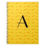 Monogram yellow mustache pattern journal
