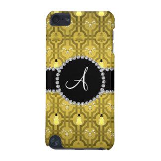 Monogram yellow snowman trellis pattern iPod touch 5G case