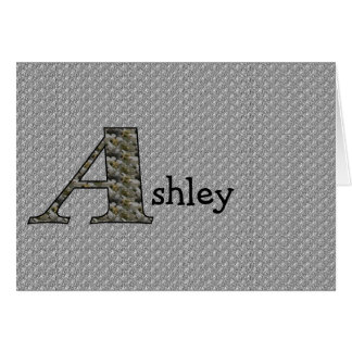 Monogram Your Name Initial A Hydrangea Floral Card