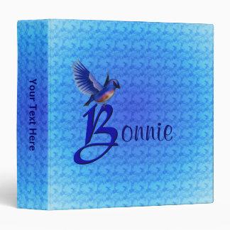 Monogram Your Name Initial B Bluebird Binder