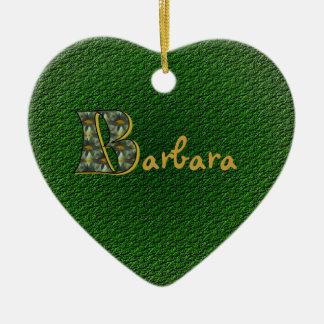 Monogram Your Name Initial B Daisies Ornament