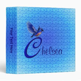 Monogram Your Name Initial C Bluebird Binder