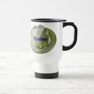 Monogram Your Name Tulip Floral Travel Mug