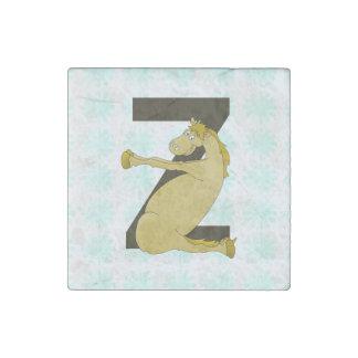 Monogram Z Agile Pony Personalized Stone Magnet