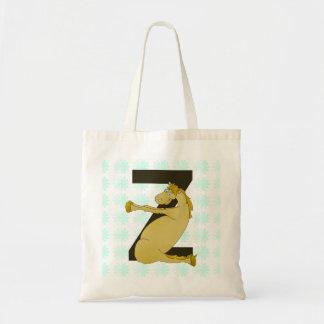 Monogram Z Agile Pony Personalized Tote Bag