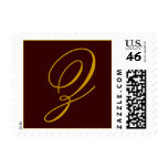 Monogram Z Chocolate and Gold Postage