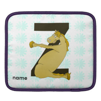 Monogram Z Funny Pony Customized Sleeve For iPads