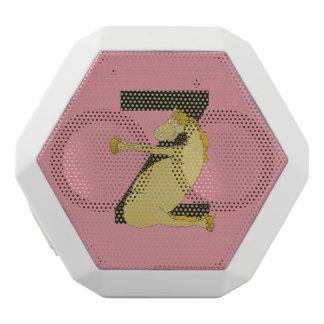 Monogram Z Funny Pony Customized White Bluetooth Speaker