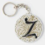 Monogram 'Z' in Gold - Keychain