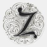 Monogram 'Z' in Grey - Sticker