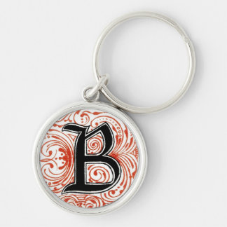 Monogram 'Z' in Red - Keychain