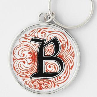 Monogram 'Z' in Red - Keychain