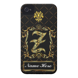 Monogram Z iphone Case Mate Please View Notes Case-Mate iPhone 4 Cases