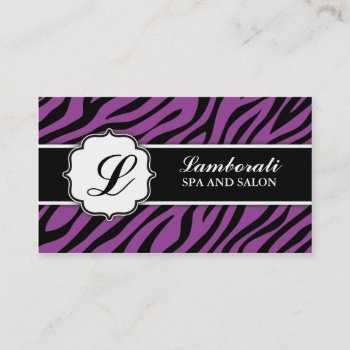 Browse products by lamborati at zazzle 63 monogram zebra print hair stylist makeup artist business card reheart Image collections