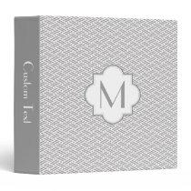Monogram zhigaki pattern binder - gray
