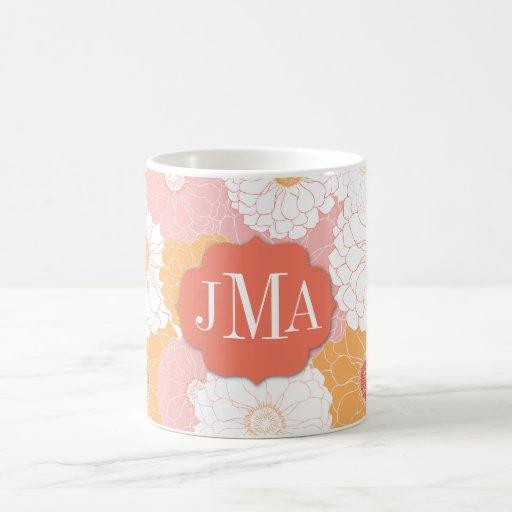Monogram Zinnia Classic White Coffee Mug