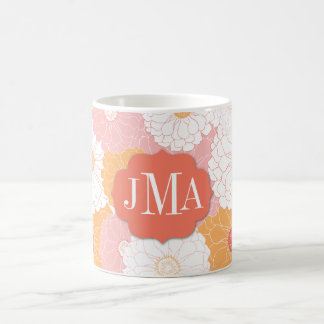 Monogram Zinnia Coffee Mug