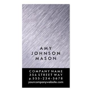 Monograma 2/de la firma cepillo de acero/acento tarjetas de visita