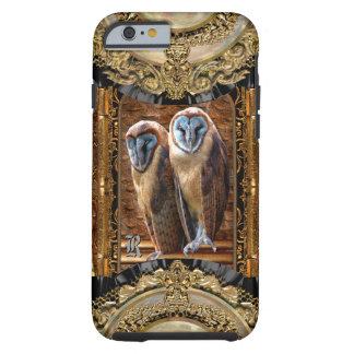 Monograma 6/6s del búho de la presa de Hanivel Funda De iPhone 6 Tough