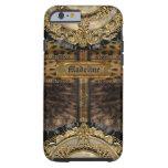 Monograma 6/6s del leopardo de Arcos duro Funda Resistente iPhone 6