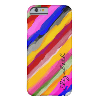 Monograma abstracto coloreado acuarela #11 funda de iPhone 6 barely there