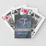 Monograma abstracto del personalizable de los polí baraja de cartas
