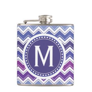Monograma achispado púrpura azul elegante del zigz