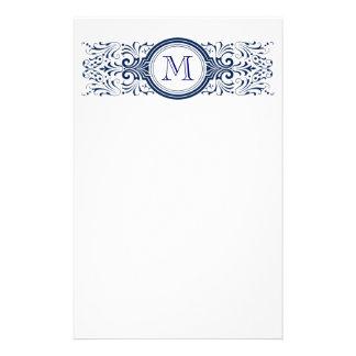 Monograma adaptable adornado inmóvil  papeleria de diseño